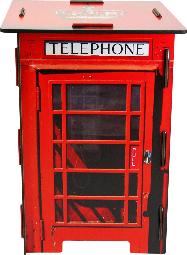 Living Room,Furniture,Latest Trends - Low Wooden Stool London Red Telephone Box