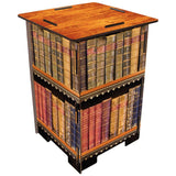 Living Room,Furniture - Low Wooden Stool Library Books