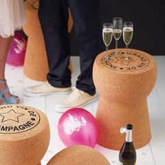 Giant Champagne Cork Table Over sized : www.decorelo.co.uk