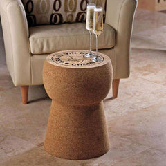 XL Giant Champagne Cork Table Cork furniture : www.decorelo.co.uk