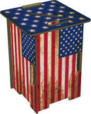 Living Room,Sale,Furniture,Latest Trends - Low Wooden Stool Retro USA Flag