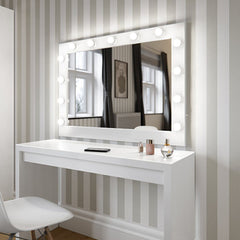 Hollywood Mirror in White Gloss Landscape 80 x 110cm  : www.decorelo.co.uk