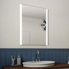 Illuminated Bathroom Mirror with Edge Lighting, Demister Pad and Motion Sensor 80x60cm