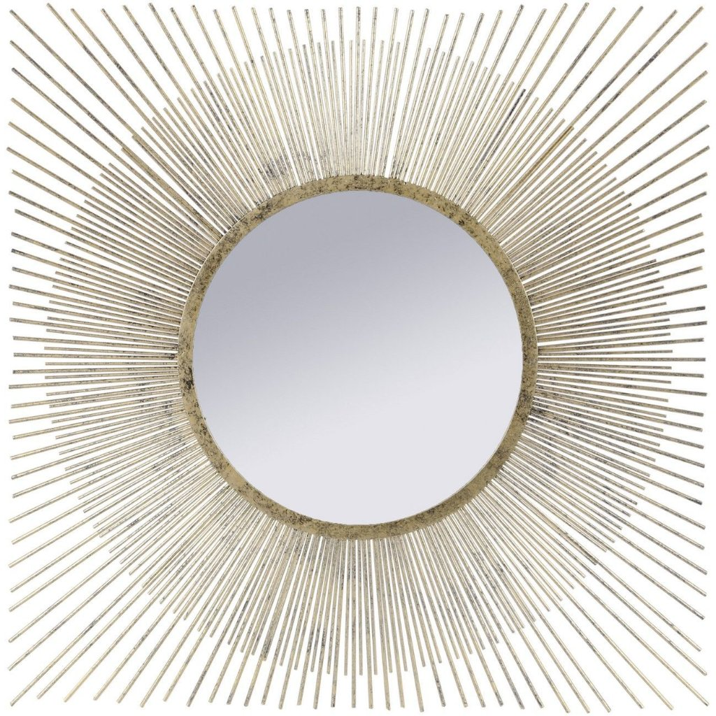 Mylas Gold Square Spoke Mirror