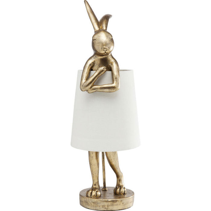 Gold Bunny Rabbit Table Lamp