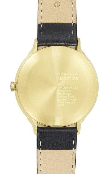 Sale,Gifts,Brands - Mondaine Helvetica No. 1 Light Watch White Dial Date Aperture Black Leather Strap
