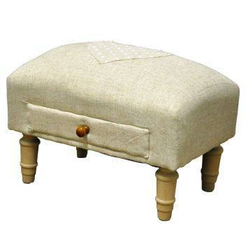 Sale,Gifts,Furniture - Natural Jute With Heart Footstool