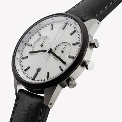 Sale,Latest Products,Gifts,Brands - Uniform Wares C41 Watch PVD Grey Face & Black Nappa Leather Strap