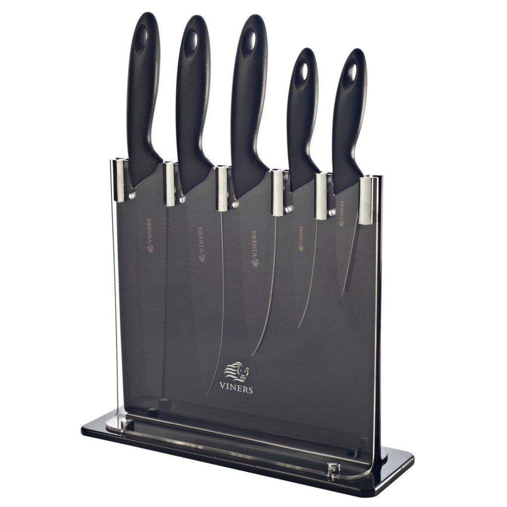 Silhouette 5pc Knife Block