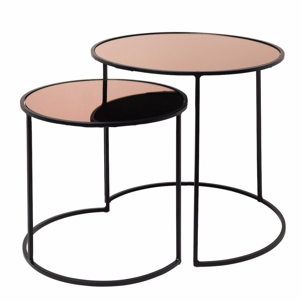 Broste Copenhagen Stends Tables Set of 2 Rose Gold