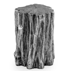Antique Silver Tree Trunk Stool