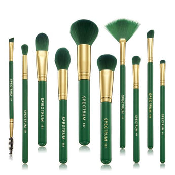 10 Piece Malachite Brush Set