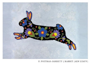 U of R Arts Dept. has featured my Metis Spirit Rabbit on their holiday card.