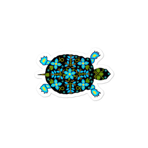 Turtle Sticker, Spirit Animal Sticker, Bubble-free stickers