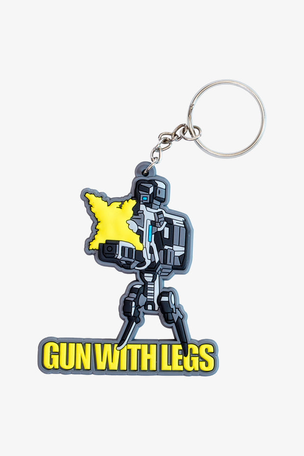 Borderlans Gun With Legs Cel Shaded Keychain