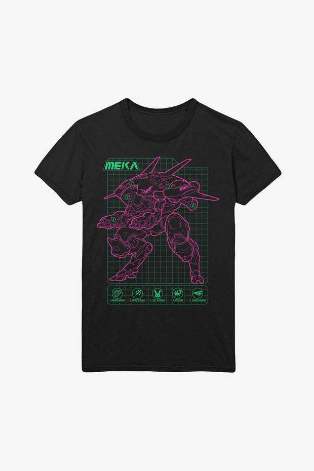 Overwatch D.VA Blueprint T-Shirt