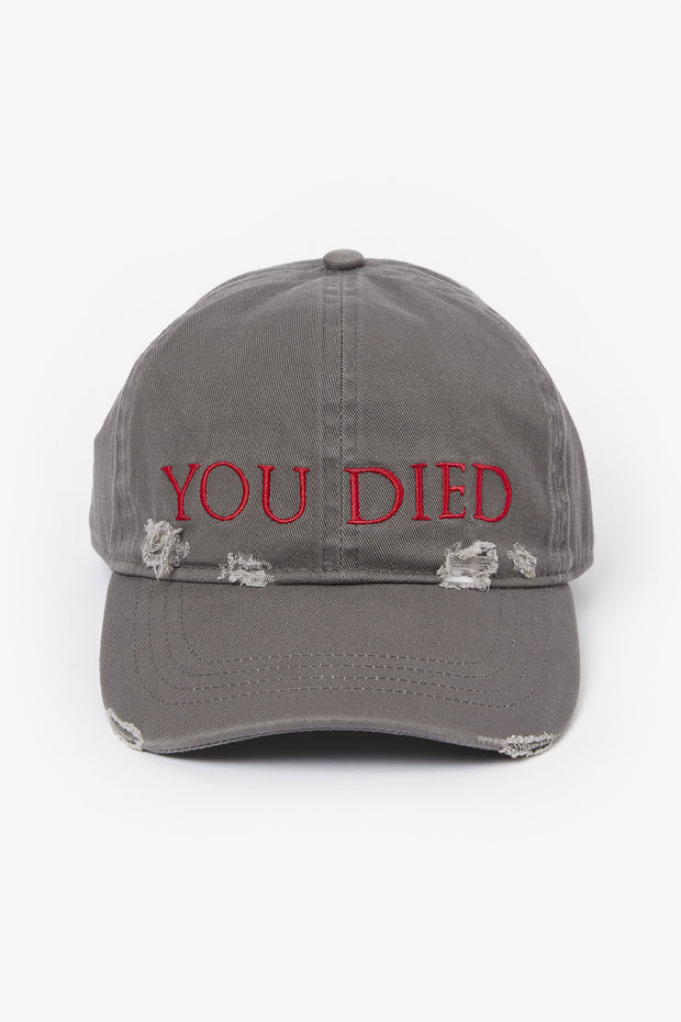 Dark Souls YOU DIED Destroyed Baseball Cap