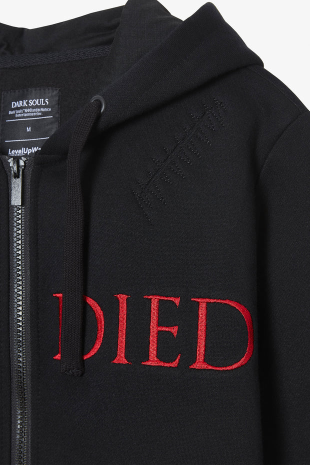 Dark Souls YOU DIED Destroyed Hoodie