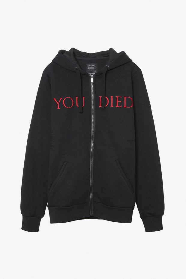 Dark Souls - YOU DIED Destroyed Hoodie
