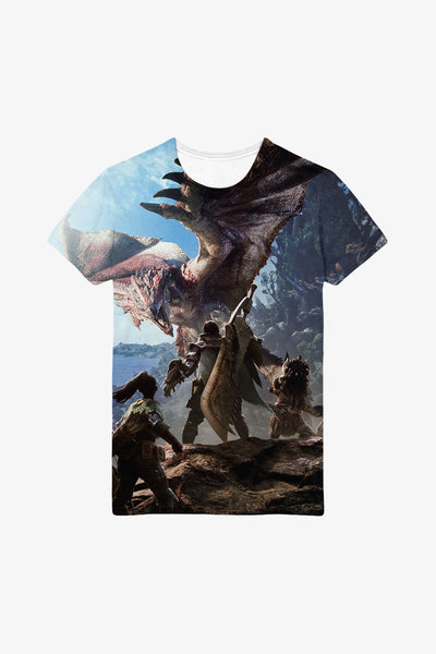 Monster Hunter World Hunters Allover Premium T-Shirt