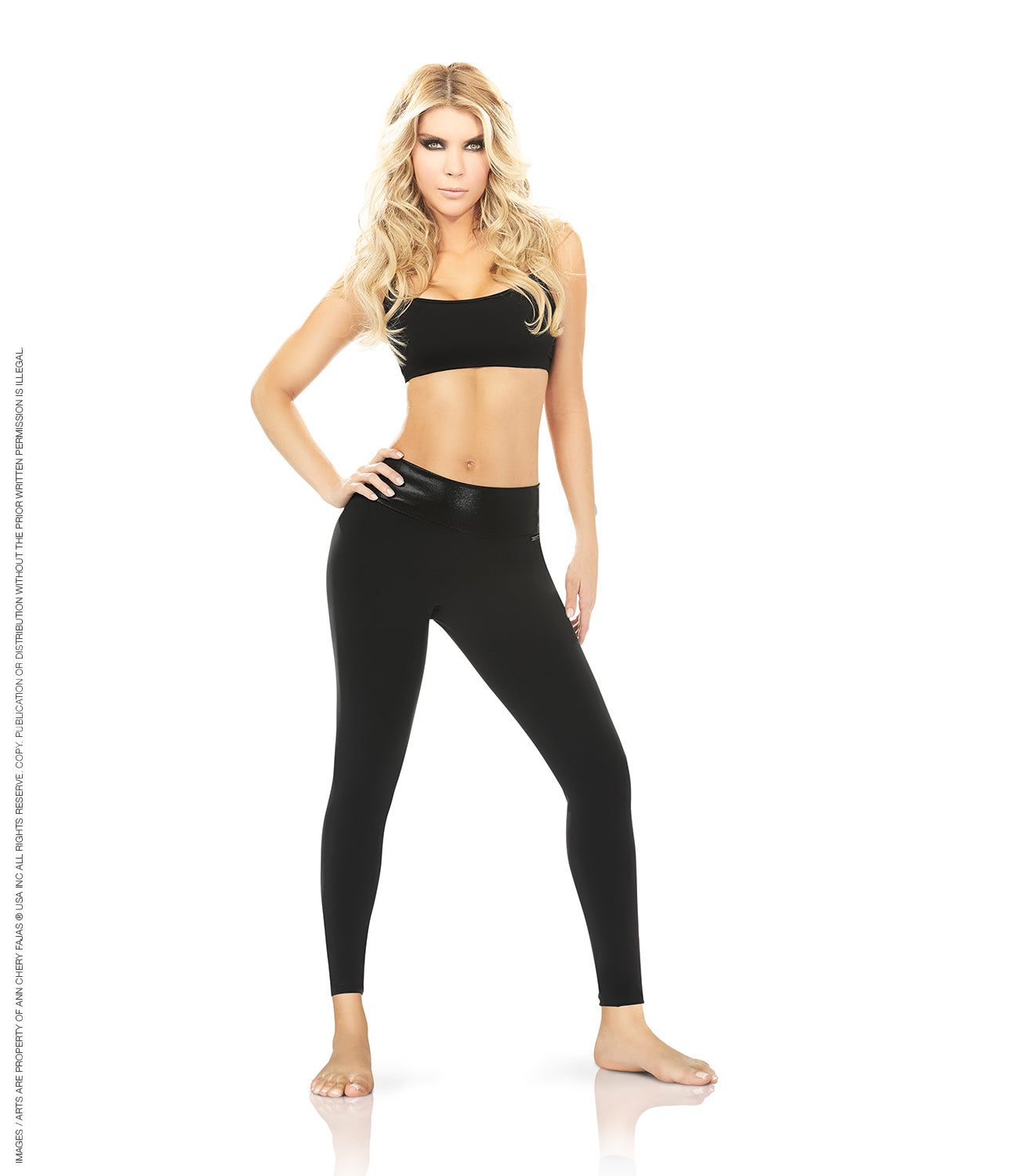 7038 - Metallic Control Leggings - Ann Chery Mexico