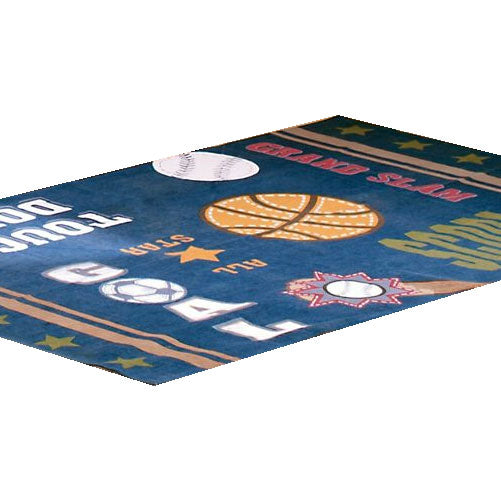 Large Basketball Area Rug: All Sports Basketball Soccer Large Area Rug Floor Accent