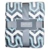Aqua and Gray Aztec Diamond Throw Blanket