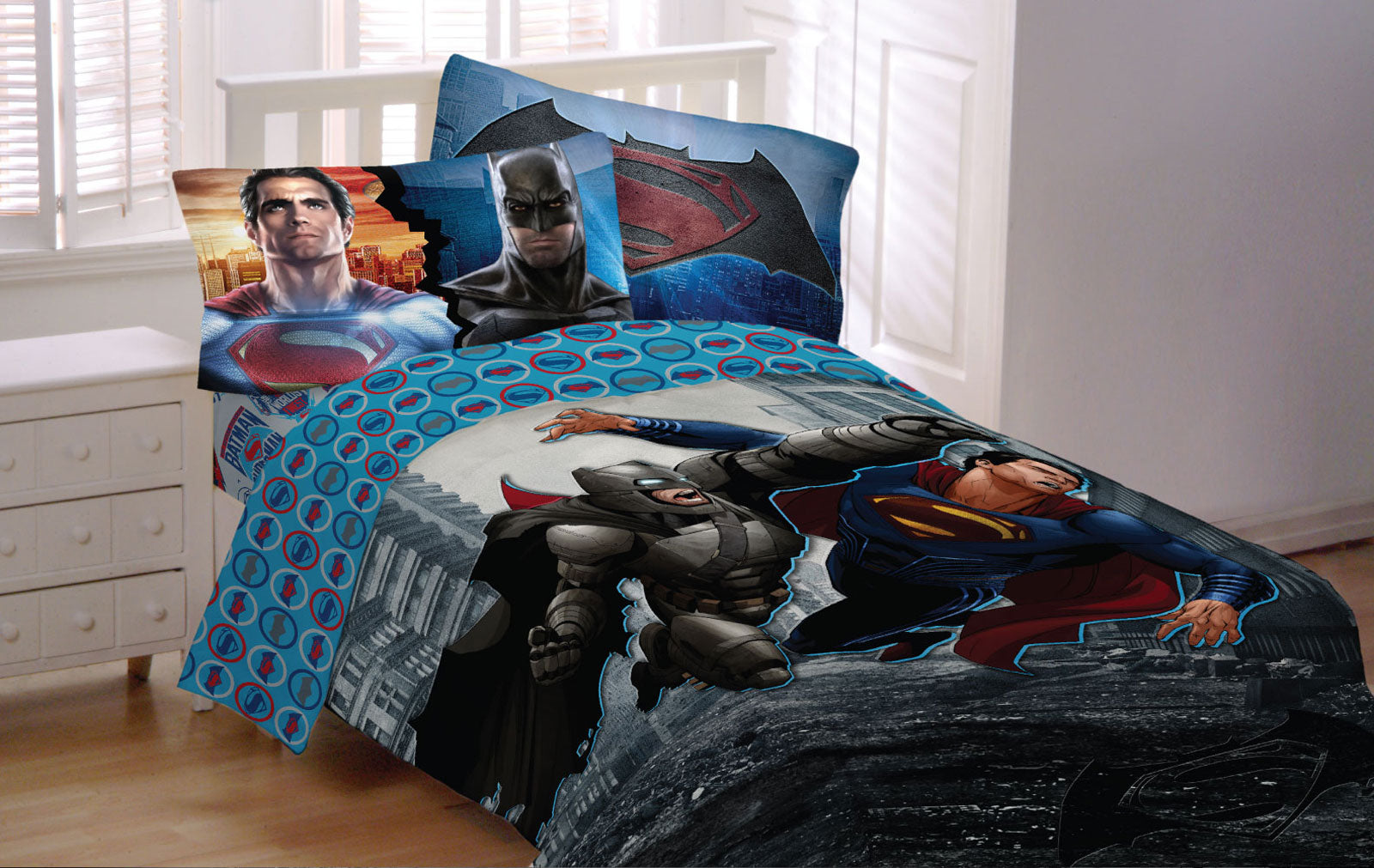 Superman Dc Comics Prepasted Large Wallpaper Accent Mural Obedding Com