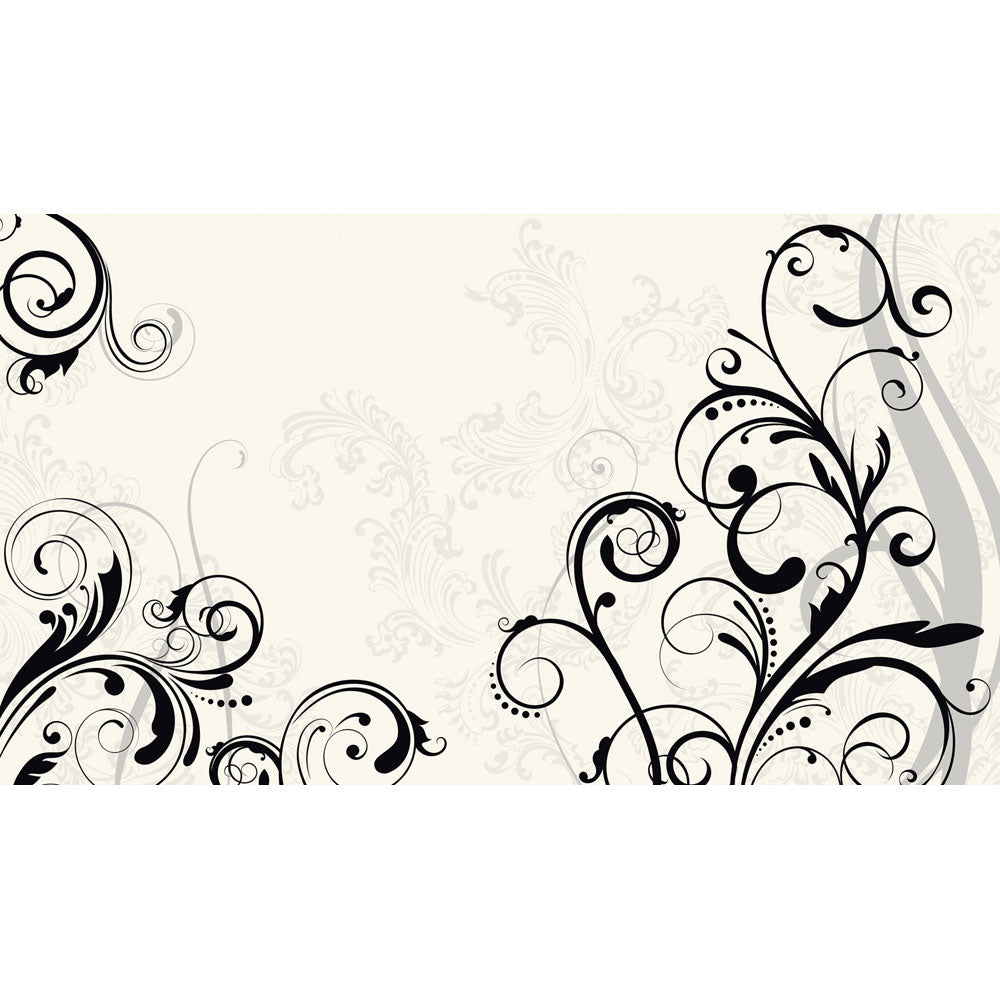 wall murals all obedding com black and white scroll wall murals chair rail
