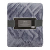 Textured Blue Gray Throw Blanket