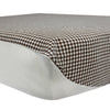 Brown Checkered Fitted Crib Sheet