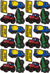 Construction Trucks Wall Stickers - Mini