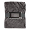 Textured Dark Gray Throw Blanket