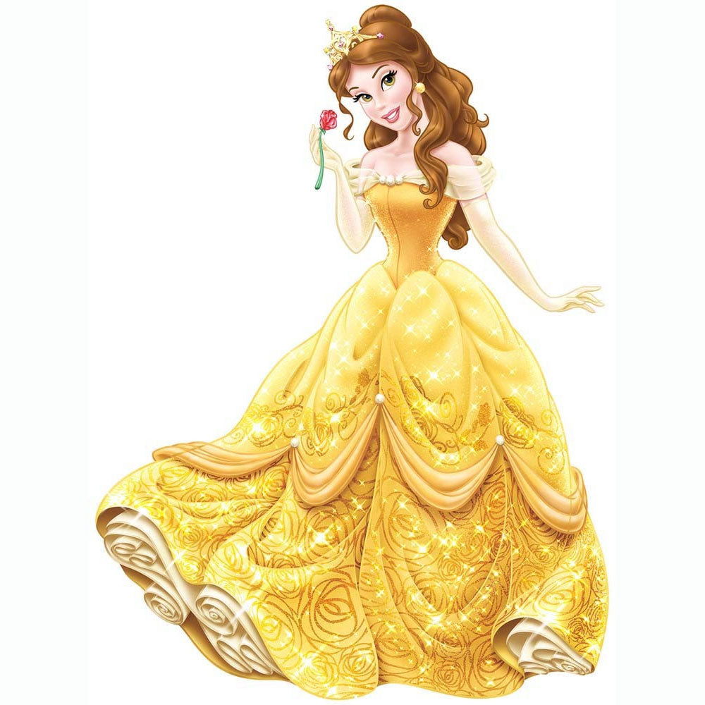 Disney Belle Wall Accent Glamour Princess Giant Sticker - oBedding.com