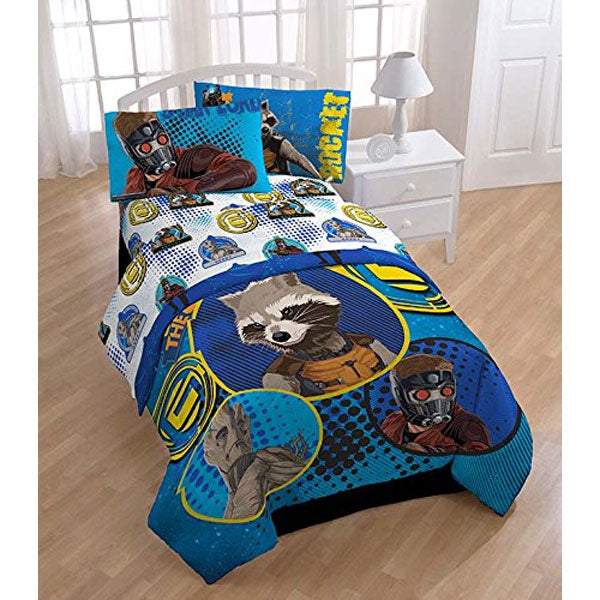 Captain America Marvel Comics Twin Bed Sheet Set