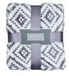 Pixelated Gray Diamond Throw Blanket