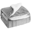Light Gray Plush Sherpa Throw Blanket