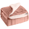 Rose Pink Plush Sherpa Throw Blanket