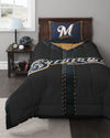 MLB Milwaukee Brewers Baseball Jersey Bed Comforter Set