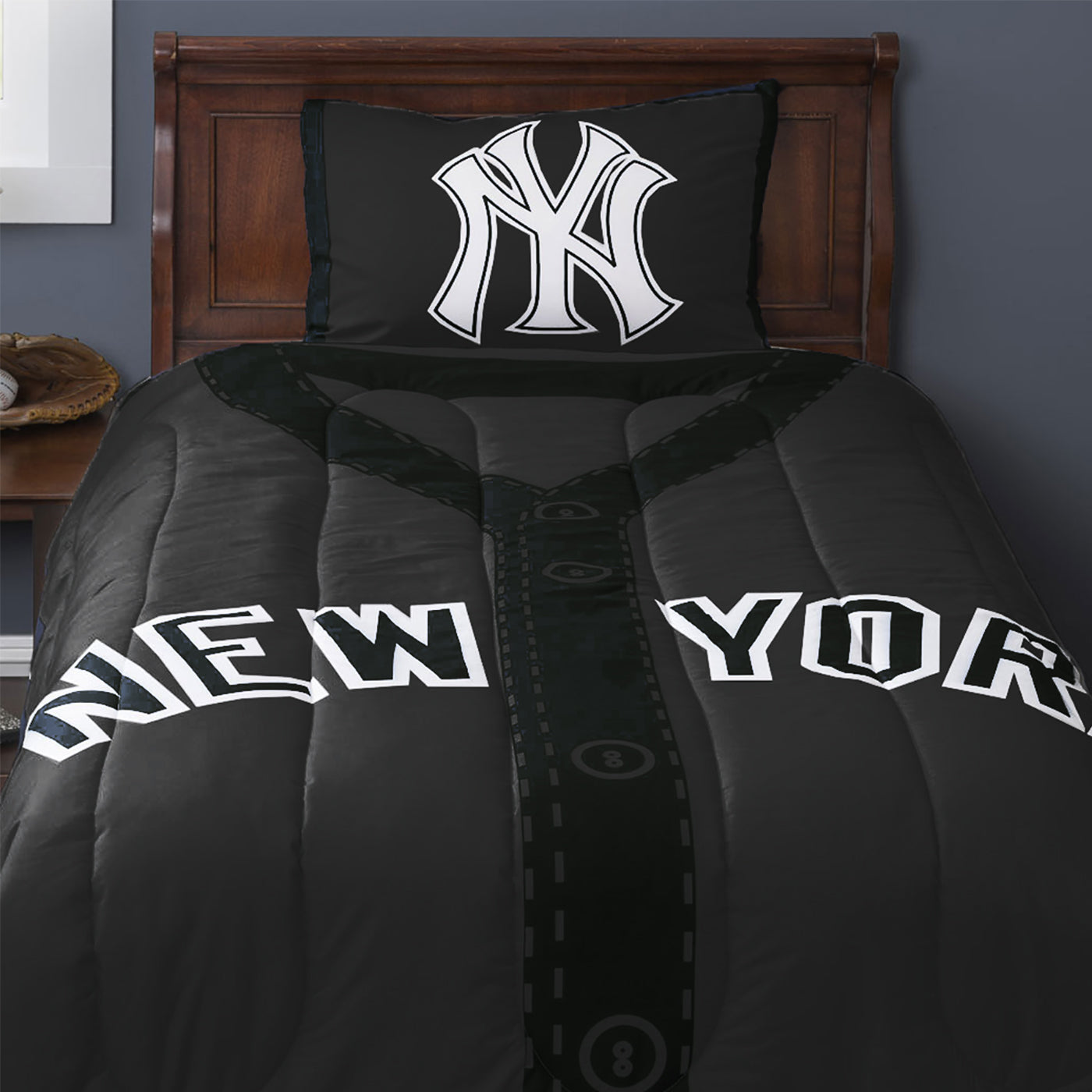 MLB New York Yankees Baseball Jersey Bed Comforter Set
