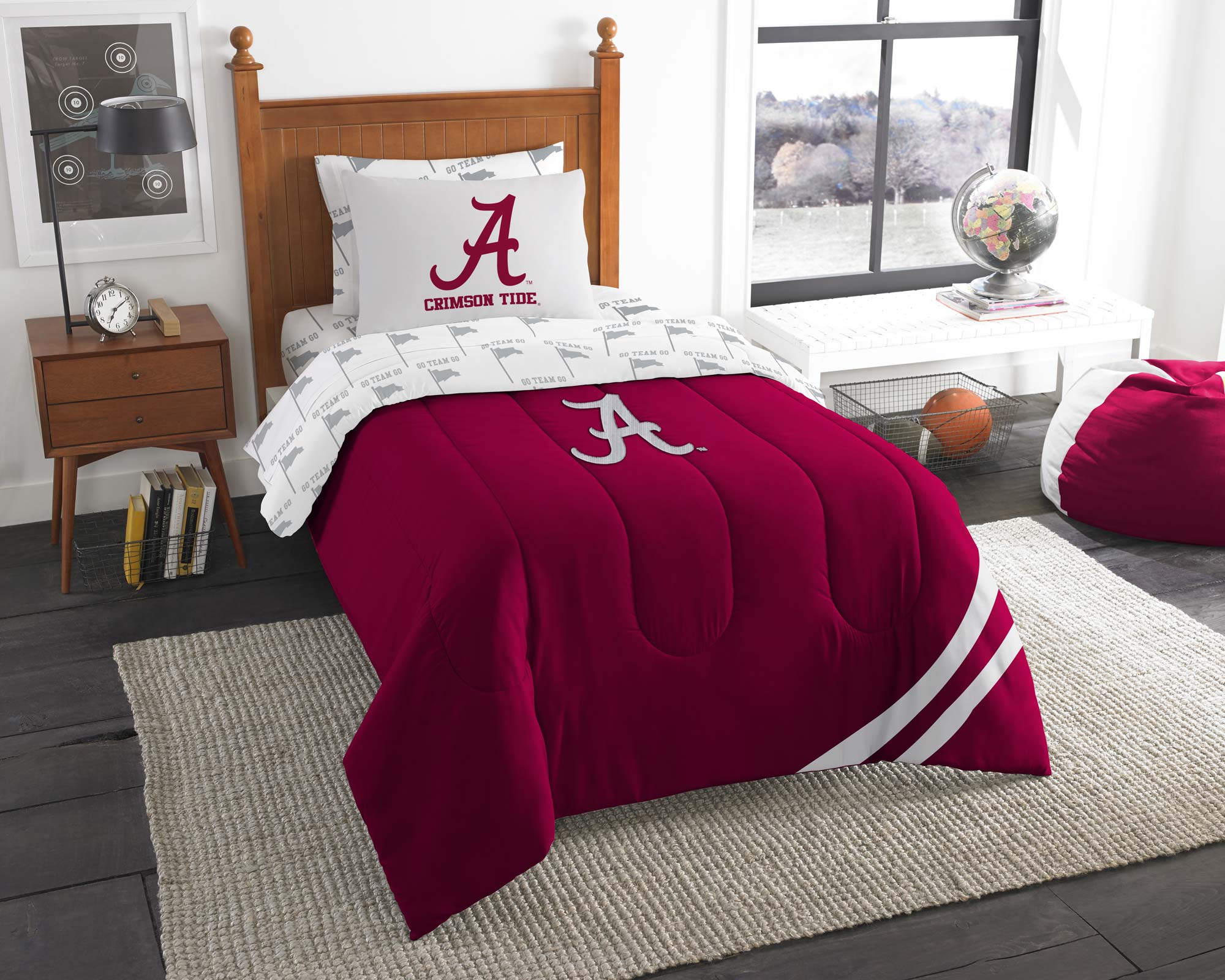 5pc ncaa alabama crimson tide twin bedding set obeddingcom