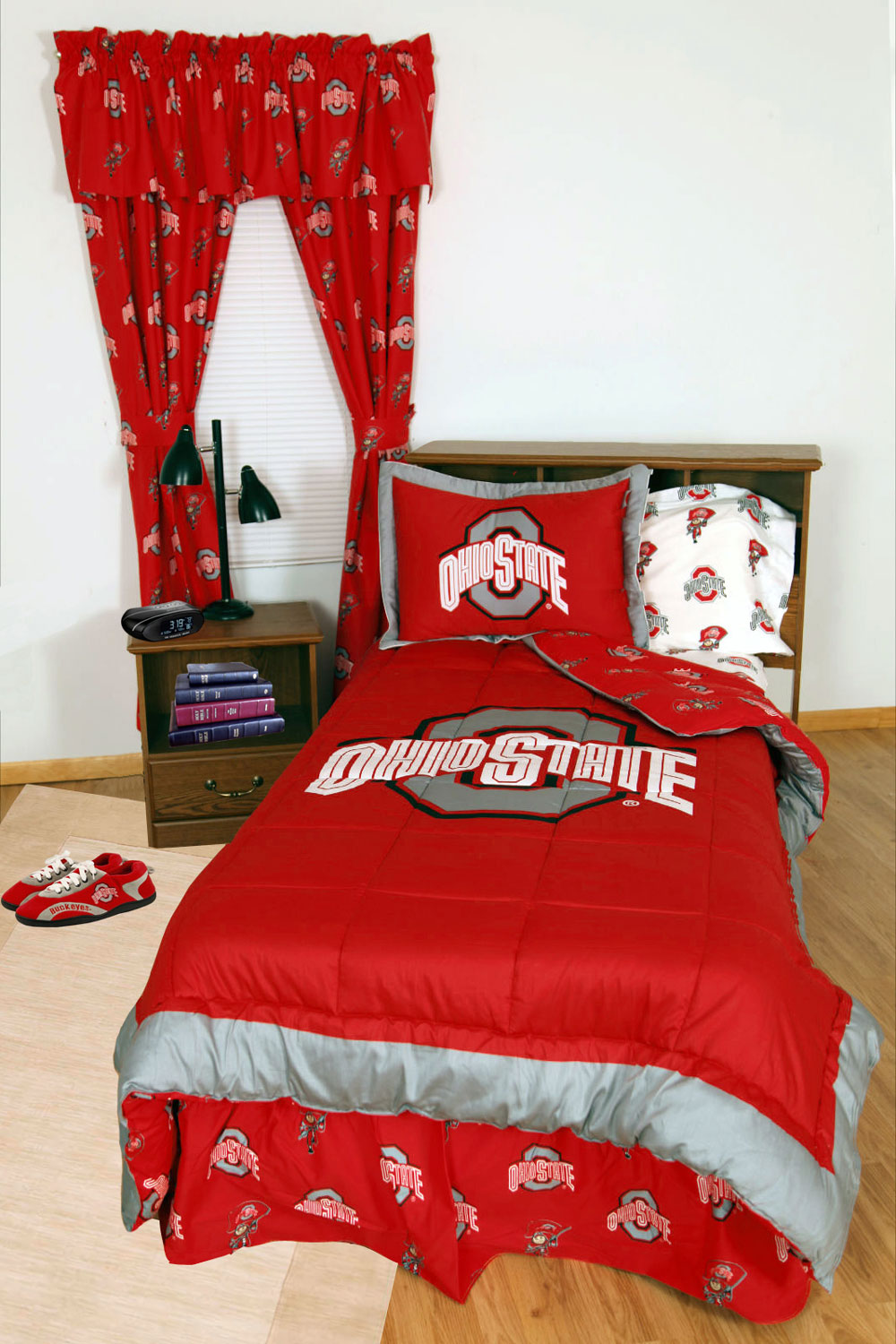 ohio state bedroom ncaa ohio state bedding buckeyes comforter sets osu sheets 12731