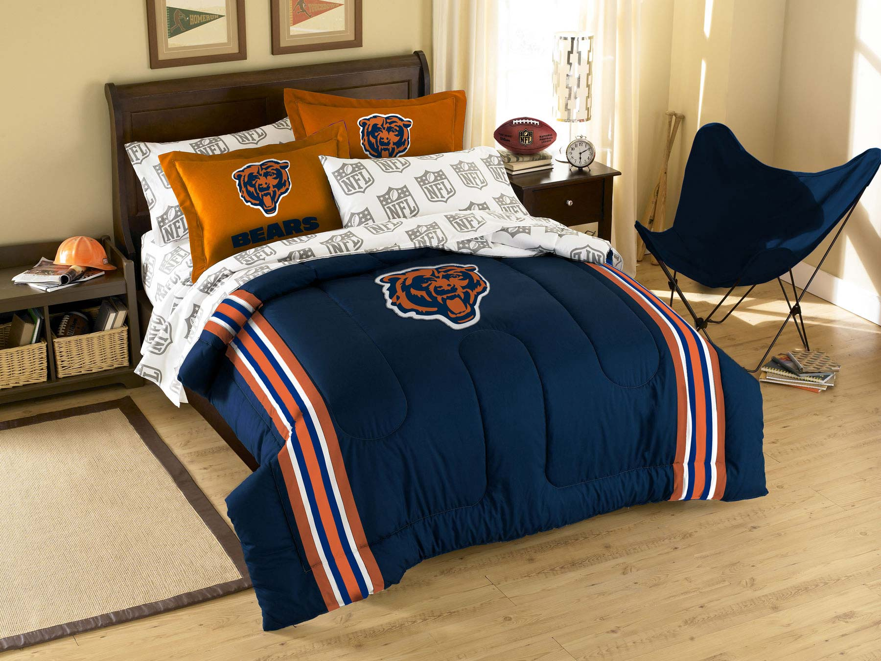 Chicago bears bathroom accessories - Nfl Chicago Bears Contrasting Bed Comforter Set