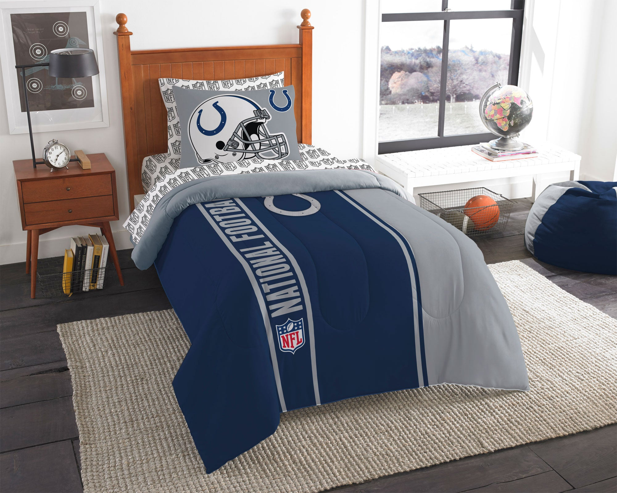 Colts bathroom decor - Nfl Indianapolis Colts Bedroom Collection