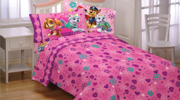 Paw Patrol Twin Flannel Sheets Best In Snow Bedding