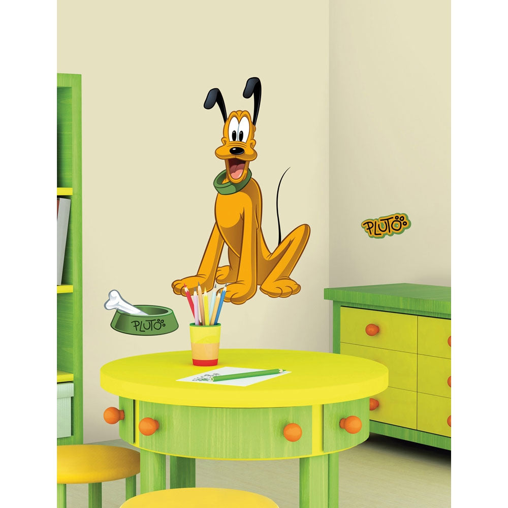 Disney Pluto Large Self-Stick Wall Accent Decal Set - oBedding.com
