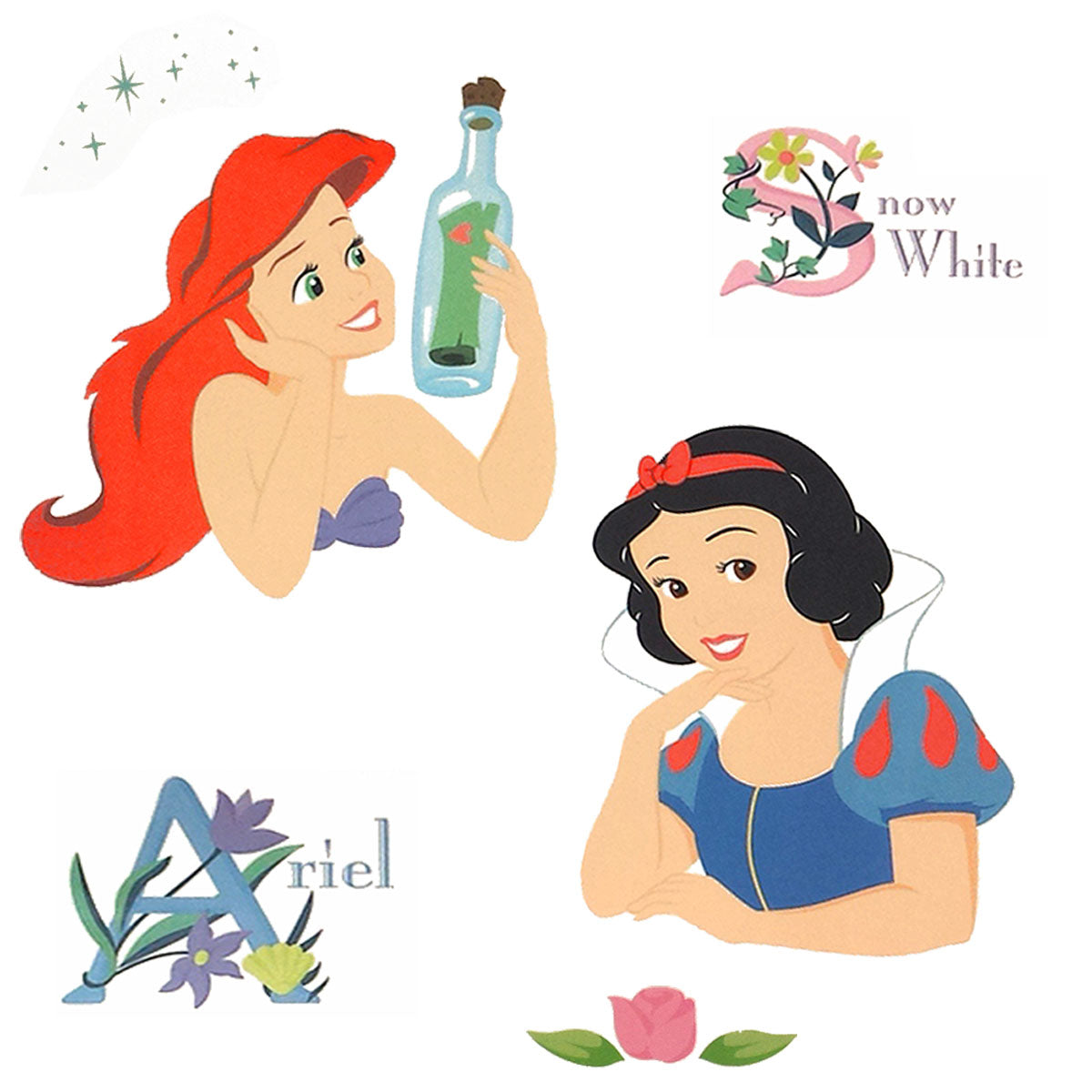 Disney Princess Stickers Posed Princesses Wall Decals