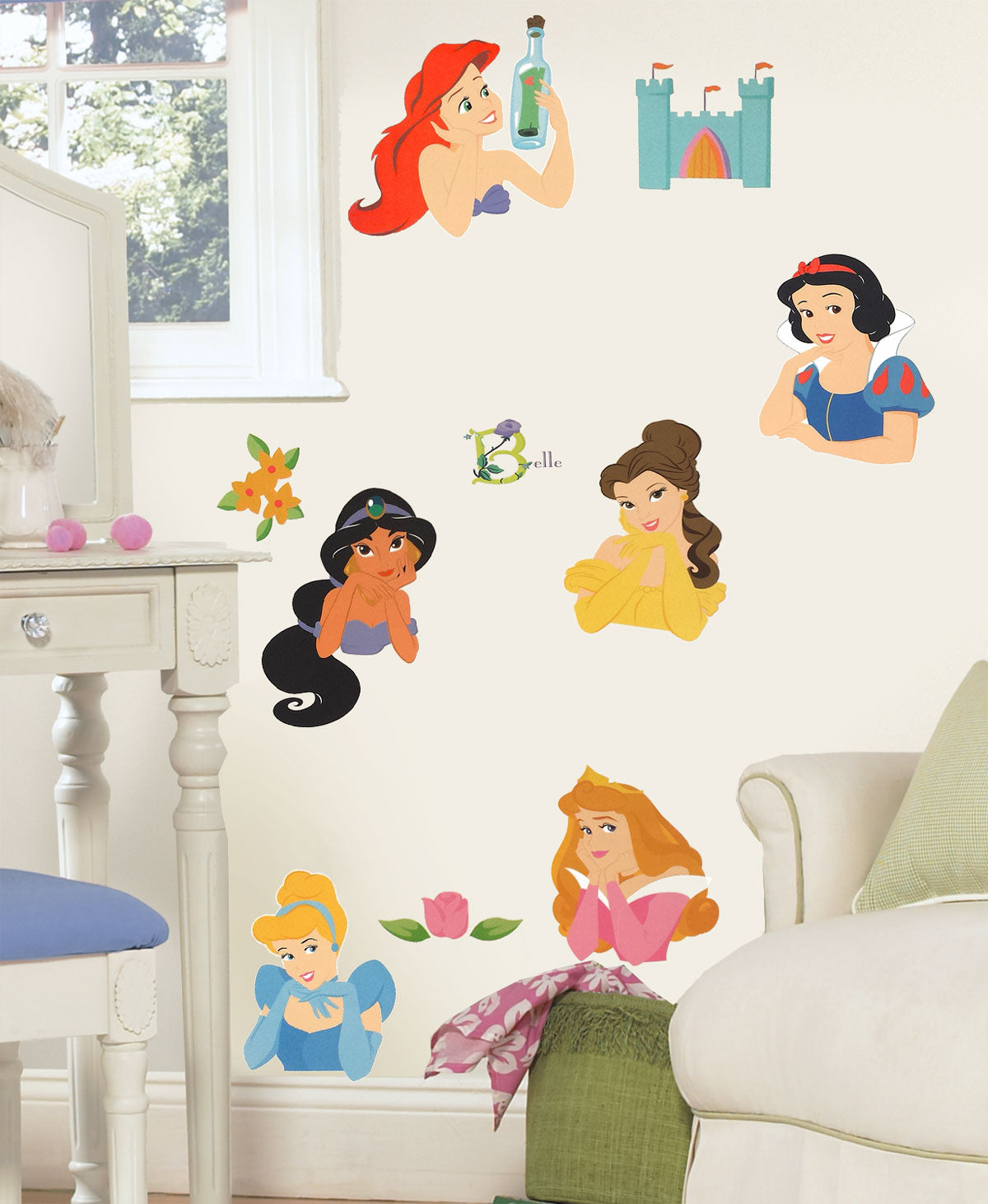 disney princess stickers posed princesses wall decals. Black Bedroom Furniture Sets. Home Design Ideas