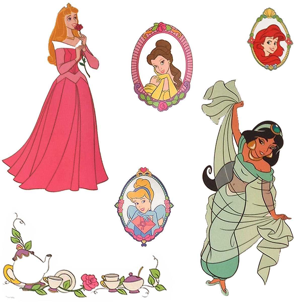 Disney Princess Stickers Royal Portraits Wall Decals
