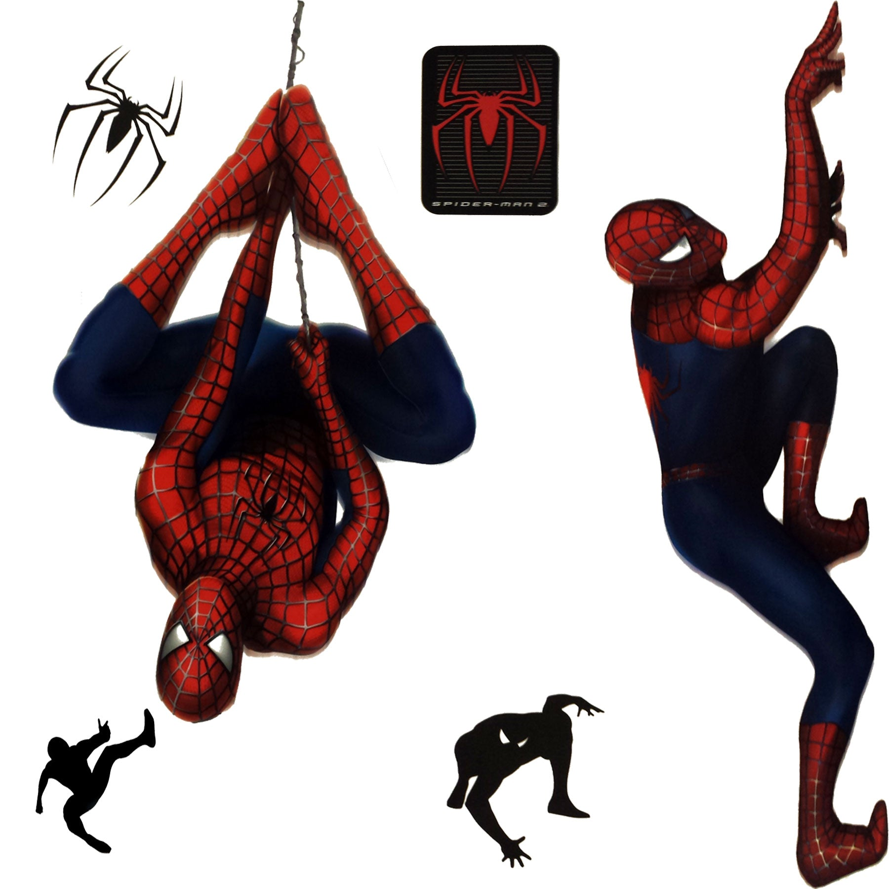 Marvel spiderman 2 stickers superhero self stick decals obedding marvel spider man 2 wall stickers amipublicfo Image collections